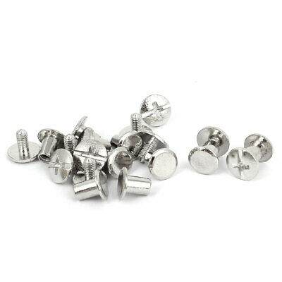 4.5mmx7.5mm Silver Plated Binding Screw Post For Leather Photo Albums Belt 10pcs