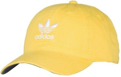 BRAND NEW ADIDAS Originals Washed Relaxed Strapback Cap Mens Yellow ... a411574c305