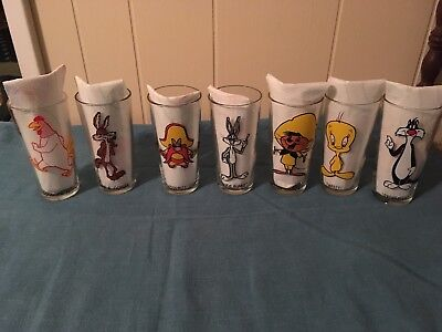 Lot Of 7 Vtg Pepsi 1973 Warner Bros Looney Tunes Collector Series Glasses