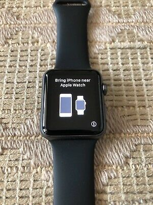 apple watch 1st generation 42mm space grey aluminum with bonus band!