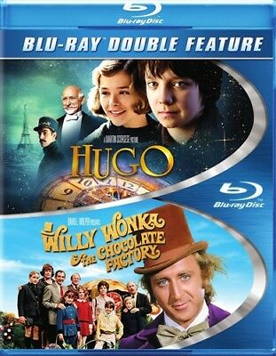 HUGO + WILLY WONKA & THE CHOCOLATE FACTORY New Sealed Blu-ray Double Feature