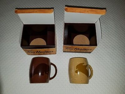 Set of 2 BRAND NEW IN BOX Tim Hortons 2016 Limited Edition Beaver Coffee Mugs