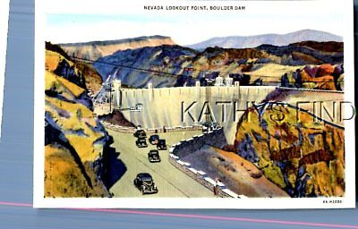 Nevada Postcard Q_3454 Nevada Looking Point,boulder Dam