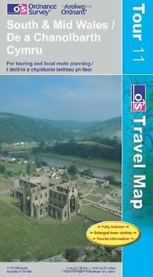 South and Mid Wales (OS Travel Series - ... by Ordnance Survey Sheet map, folded