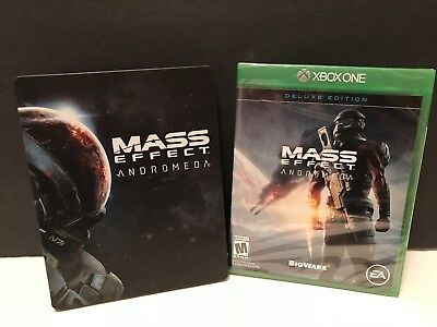 Mass Effect Andromeda Deluxe - Xbox One+new Steelbook Case