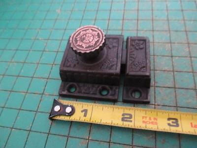 Antique Victorian Ornate Cast Iron Brass Knob Cabinet Cupboard Door Latch