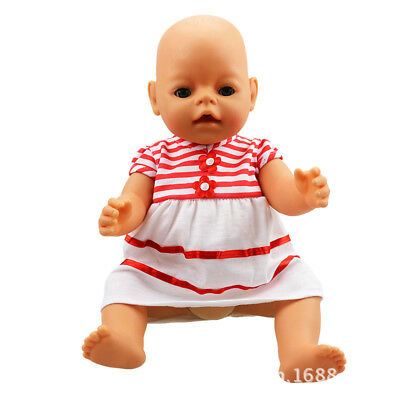 stripe clothes Doll Clothes Wearfor 43cm Baby Born zapf (only sell clothes )