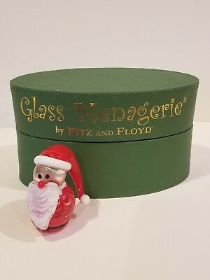 Fitz And Floyd Glass Menagerie Santa With Box  43/256 Limited Edition