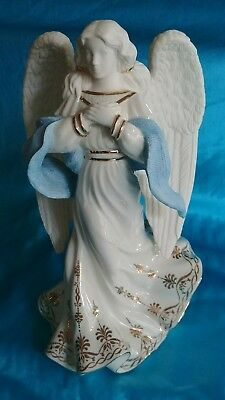 """Lenox Victorian Style Porcelain Christmas Decoration """"Angel of Hope"""" 8.5"""" Tall"""