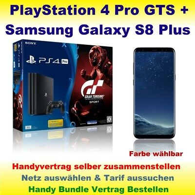 Handyvertrag mit Samsung Galaxy S8 Plus + PlayStation 4 Pro PS4 GTS Handy Bundle