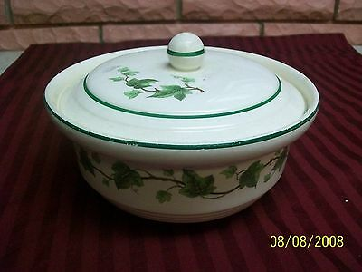 Harker Hotoven Cooking Ware With Lid & Green Ivy Pattern Preowned