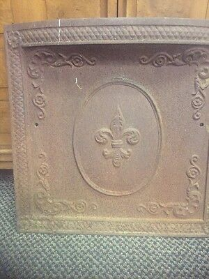 Antique  Cast Iron Fireplace Cover  #320