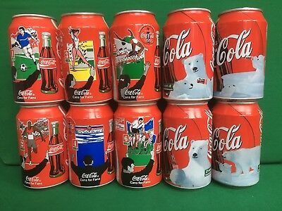 Coca Cola Dosen Set - Cans for Fans + Polarbären - Coke Cans 1996 / 1999