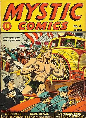Mystic Comics #4 (1940)  Photocopy Comic Book - Timely Comics
