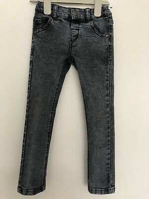 Next Black Skinny Jeans Adjustable Waist Age 3-4 Years Stretch