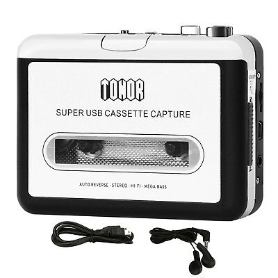Tonor Portable Cassette Player Tape Convertor to MP3 via USB Compatible with ...