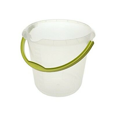 """Keeeper """"Phenix"""" Bucket with Spout, Transparent, 10 Litre(handle is colored)"""