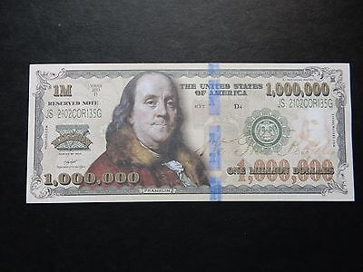 ZZ 5 NOVELTY $1 Million Banknote Bill 1000000 Bank Note One American Dollar USA