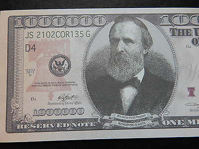x5 NOVELTY $1 Million Banknote Bill 1000000 American Dollar Bank Note One USA