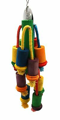 Happy Pet Playtime Wooden Parrot Toy