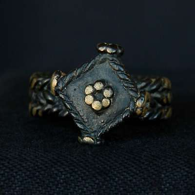 Ancient BRASS Finger RING - 22 mm DIA - 100 years old - SAHARA
