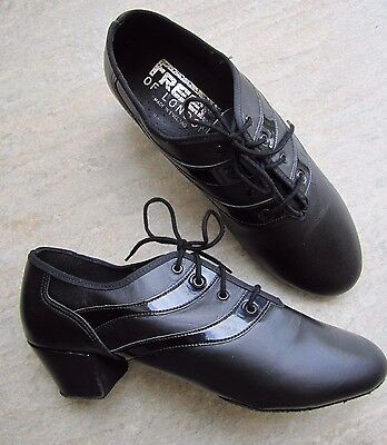 "Mens Size 6 Black Latin Ballroom Shoes with 1.5"" cuban heel + split sole *NEW*"