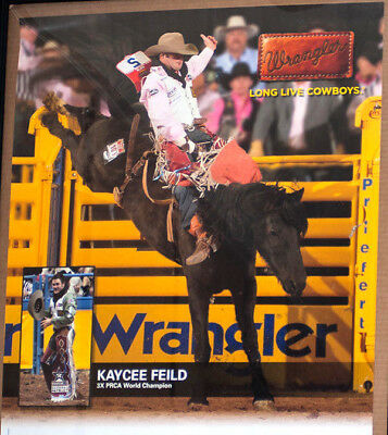 RODEO POSTER - 3-Time World Champion Kaycee Feild, NFR POSTER; PRCA