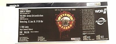1x Guns N´ Roses 1. FRONT OF STAGE Gelsenkirchen FoS 1 LINKS 12.06.2018 Ticket
