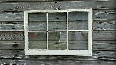 VINTAGE SASH ANTIQUE WOOD WINDOW UNIQUE FRAME PINTEREST WEDDING 36x24 6 PANE