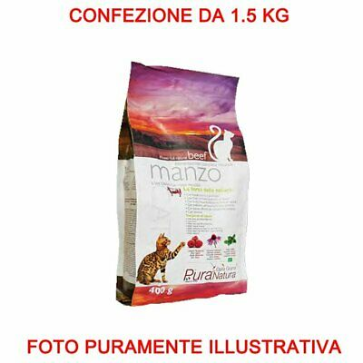 Pure Nature Cover Croquettes Cat Adult 1.5 Kg Beef Food Cat