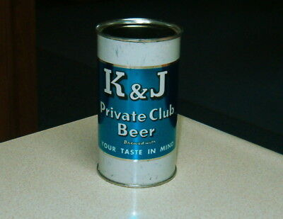 K & J Private Club Flat Top Beer Can Schoenhofen Edelweiss Brg. Co. Chicago, Ill