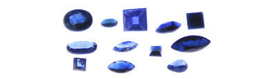 Sapphires Mixed Shapes Facetted - 2.0mm to 8.0mm - Approx 12 pcs