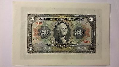 American Bank Note Company Washington 20 Stock Certificate 100 Specimen ABNC