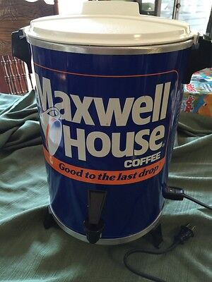 Vintage Maxwell House 30 Cup Coffee Pot Maker Percolator WestBend General Foods