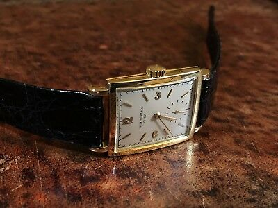 Patek Philippe Vintage 18k Yellow Gold Manual Wind Ivory Dial 26mm VERY RARE