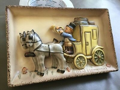 """Hummel 140 TMK5 """" The Mail Is Here """" Wall Plaque Artist Initialed No Reserve"""