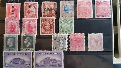 New Zealand Stamps mint hinged 1873-1939 including officials