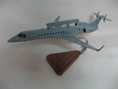Embraer EMB-145 ERJ-145 AEW & C Greece Airplane Desktop Wood Model