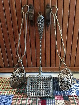 Lot Of 3 Vintage Wire Basket Soap Saver Soap Holder Metal Mesh Soap Baskets