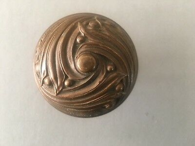 Antique Art Nouveau/Arts & Crafts Style Bronze Doorknob