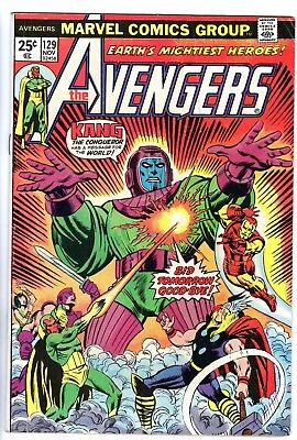 AVENGERS #129, 130 (1974, Marvel) Both books in mid-grade (5.5 to 6.5 condition)