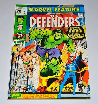 Marvel Feature 1 1st Defenders Incredible Hulk Doctor Strange Sub-Mariner F/VF