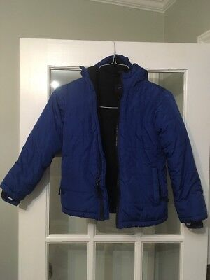 LANDS END Boys Coat Fleece Lined Blue Size 7