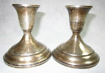 2 Vintage TOWLE #512 Sterling Silver Candle Holder Candlesticks