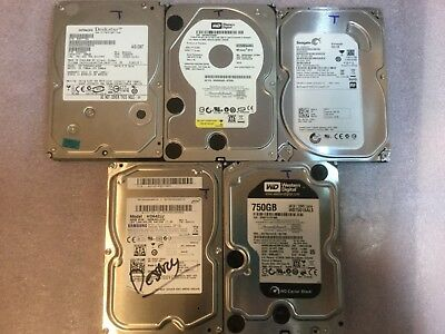 "Lot of 6 Mixed Brand 3.5"" SATA Desktop Hard Drives 400gb,500gb,640gb,750gb,1000g"
