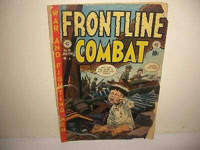 """""""FRONTLINE COMBAT"""" #10 FEB.'53 """"AD for MAD #1 on inside FRONT COVER!"""" WAR STORY"""