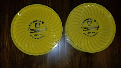 Caterpillar Tractor Vintage Lincoln Equipment Dealer Drink Coasters