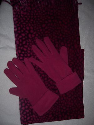 ladies scarf and glove