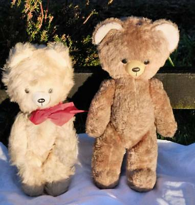 2 Old Japanese Rod Jointed Bears 1960S Vintage