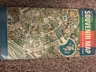Official Souvenir Map New York Worlds Fair 1964/1965 By Time Life Books